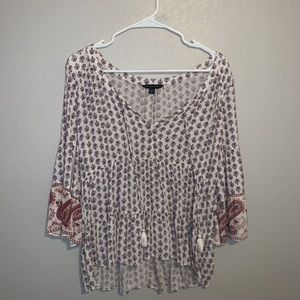 American Eagle Patterned Blouse